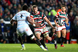 Mike Fitzgerald of Leicester Tigers passes the ball - Mandatory by-line: Robbie Stephenson/JMP - 23/10/2016 - RUGBY - Welford Road Stadium - Leicester, England - Leicester Tigers v Racing 92 - European Champions Cup