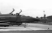 Duitsland, Frankfurt, 25-9-1987Op een amerikaanse legerbasis, luchtmachtbasis met Phantom gevechtsvliegtuigen die vooral verkenningsvluchten maken.Foto: Flip Franssen/Hollandse Hoogte