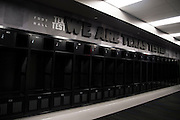 "A general view of one of the high school locker rooms in The Ford Center at The Star in Frisco, Texas on August 23, 2016. Frisco ISD recently signed a partnership with Nike and will share The Ford Center with the Dallas Cowboys who use the facility for indoor practices. ""CREDIT: Cooper Neill for The Wall Street Journal""<br /> TX HS Football sponsorships"