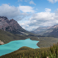 Caldron Peak and Peyto Lake, in the Mistaya Valley, Banff National Park, Alberta, Canada