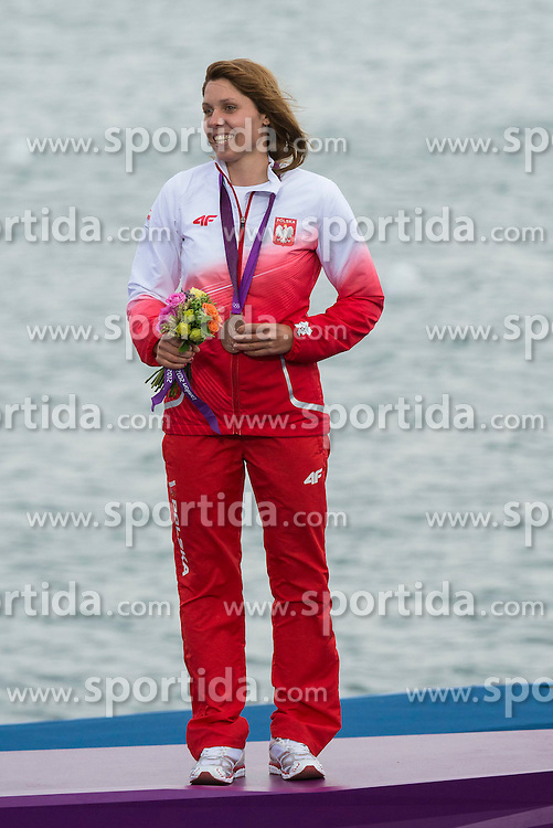 07.08.2012, Bucht von Weymouth, GBR, Olympia 2012, Windsurfen, im Bild Noceti-Klepacka Zofia, (POL, RS:X Women) // during Windsurfing, at the 2012 Summer Olympics at Bay of Weymouth, United Kingdom on 2012/08/07. EXPA Pictures © 2012, PhotoCredit: EXPA/ Juerg Kaufmann ***** ATTENTION for AUT, CRO, GER, FIN, NOR, NED, POL, SLO and SWE ONLY!