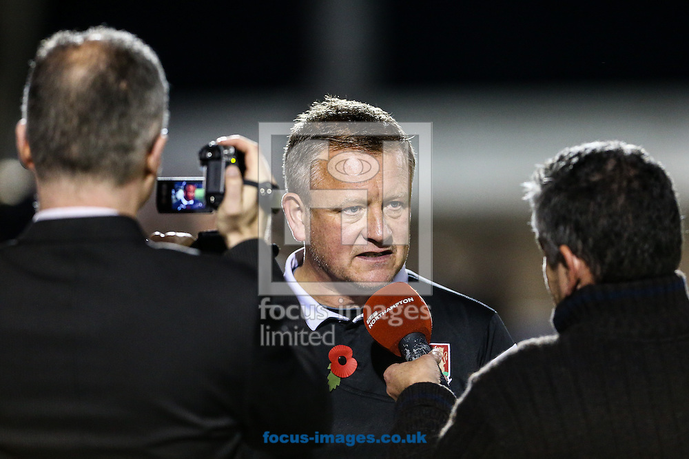 Northampton manager, Chris Wilder, after the Sky Bet League 2 match at Sixfields Stadium, Northampton<br /> Picture by Andy Kearns/Focus Images Ltd 0781 864 4264<br /> 01/11/2014