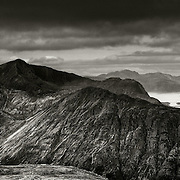 Bidean nam Bian and Loch Leven from Buachaille Etive Mor.