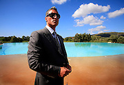 ITALY SARDINIA CHIA 28SEP07 - Andreas Panayiotou and his entourage visits a new hotel development near Chia with intentions of a leaseback purchase. Panayiotou, founder and Group Chairman of The Ability Group and a former boxer built his property empire from the ground up and today enjoys his status as billionnaire tycoon.<br />