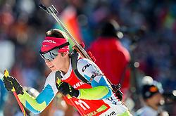 GREGORIN Teja (SLO) competes during Women 12,5 km Mass Start at day 4 of IBU Biathlon World Cup 2014/2015 Pokljuka, on December 21, 2014 in Rudno polje, Pokljuka, Slovenia. Photo by Vid Ponikvar / Sportida