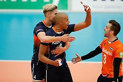 20170524 NED: 2018 FIVB Volleyball World Championship qualification, Koog aan de Zaan<br />Thijs Ter Horst (4), Nimir Abdelaziz (14) of The Netherlands <br />©2017-FotoHoogendoorn.nl / Pim Waslander
