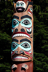 Totem carvings, Saxman Totem Park, Saxman, Alaska, United States of America