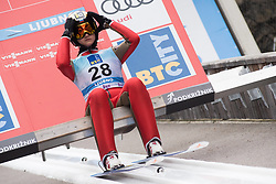 February 8, 2019 - Ljubno, Savinjska, Slovenia - Sofia Tikhonova of Russia on first competition day of the FIS Ski Jumping World Cup Ladies Ljubno on February 8, 2019 in Ljubno, Slovenia. (Credit Image: © Rok Rakun/Pacific Press via ZUMA Wire)