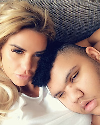 """Katie Price releases a photo on Instagram with the following caption: """"Saturday cuddles chilling with my boy while my other children playing in the garden \ud83d\udc95\u2764\ufe0f"""". Photo Credit: Instagram *** No USA Distribution *** For Editorial Use Only *** Not to be Published in Books or Photo Books ***  Please note: Fees charged by the agency are for the agency's services only, and do not, nor are they intended to, convey to the user any ownership of Copyright or License in the material. The agency does not claim any ownership including but not limited to Copyright or License in the attached material. By publishing this material you expressly agree to indemnify and to hold the agency and its directors, shareholders and employees harmless from any loss, claims, damages, demands, expenses (including legal fees), or any causes of action or allegation against the agency arising out of or connected in any way with publication of the material."""
