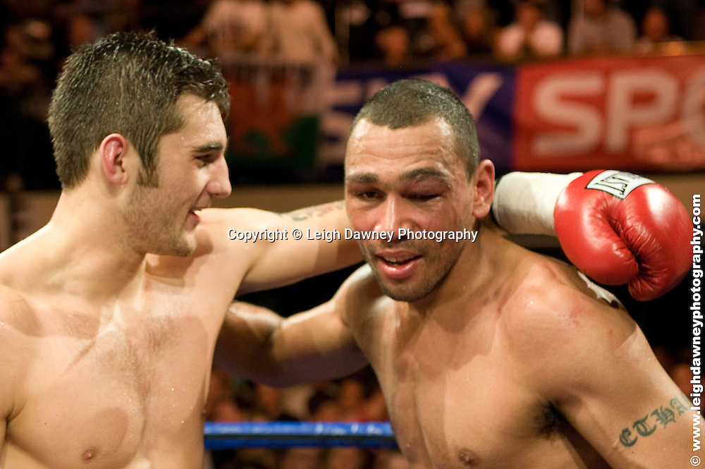 Good sports - Nathan Cleverly defeats Courtney Fry at York Hall, Bethnal Green 9th ocotber 2009. Frank Warren Promotions.Credit: ©Leigh Dawney Photography