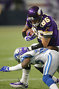 MINNEAPOLIS - NOVEMBER 21:  Tight end Jermaine Wiggins #85 of the Minnesota Vikings caught 8 passes for 51 yards and one touchdown against the Detroit Lions at the Hubert H. Humphrey Metrodome on November 21, 2004 in Minneapolis, Minnesota. The Vikings defeated the Lions 22-19. ©Paul Anthony Spinelli  *** Local Caption *** Jermaine Wiggins