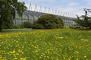 The Glasshouse at the Royal Botanical Gardens in Edinburgh, on 26th June 2019, in Edinburgh, Scotland. The Royal Botanic Garden Edinburgh (RBGE) is a scientific centre for the study of plants, their diversity and conservation, it was founded in 1670 as a physic garden to grow medicinal plants.