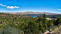 Mustang Ridge Panorama. Flaming Gorge, Utah. Composite of 10 images taken with a Nikon D3s camera and 45 mm f/2.8 PC-E lens (ISO 200, 45 mm, f/16, 1/100 sec). Raw images processed with Capture One Pro and composite processed with AutoPano Giga Pro.