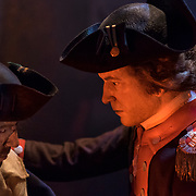 Thursday,  February 23, 2017, The Museum of the American Revolution has installed more than 15 incredibly lifelike figures in a series of historical vignettes that recreate particular moments during the American Revolution. These figures aim to personalize the wide range of people who were involved in the Revolution before the age of photography. Here, Philadelphia's famous artist-brothers, James Peale and Charles Willson Peale, reuniting on the banks of the Delaware River in December 1776 after being separated during the war  ED HILLE . Staff Photographer