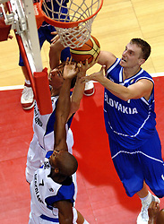 06-09-2006 BASKETBAL: NEDERLAND - SLOWAKIJE: GRONINGEN<br /> De basketballers hebben ook de tweede wedstrijd in de kwalificatiereeks voor het Europees kampioenschap in winst omgezet. In Groningen werd een overwinning geboekt op Slowakije: 71-63 / Henk Norel<br /> ©2006-WWW.FOTOHOOGENDOORN.NL