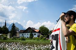 06.06.2015, Garmisch Partenkirchen, GER, G7 Gipfeltreffen auf Schloss Elmau, Circa 5000 Menschen demonstrieren in Garmisch-Patenkirchen gegen den G7-Gipfel im benachbarten Elmau, im Bild Das Fronttransparent vor der Bergidylle // uring Protest of the G7 opponents prior to the scheduled G7 summit which will be held from 7th to 8th June 2015 in Schloss Elmau near Garmisch Partenkirchen, Germany on 2015/06/06. EXPA Pictures © 2015, PhotoCredit: EXPA/ Eibner-Pressefoto/ Gehrling<br /> <br /> *****ATTENTION - OUT of GER*****