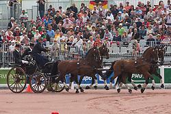 Christoph Sandmann, (GER), Amico 34, Asztor, Scicco, Variant, Wierd - Driving Cones - Alltech FEI World Equestrian Games™ 2014 - Normandy, France.<br /> © Hippo Foto Team - Dirk Caremans<br /> 07/09/14