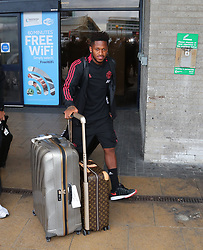 Fred is spotted at the Manchester Airport, UK as the Manchester United Football Club return from their USA Pre-Season tour on July 1, 2018.