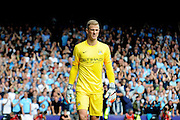 A bit of breathing space for Joe Hart during the Barclays Premier League match between Crystal Palace and Manchester City at Selhurst Park, London, England on 12 September 2015. Photo by Michael Hulf.