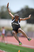 Asha Fletcher of Wildwood places fifth in the girls long jump at 18-9 3/4 during the 2019 CIF Southern Section Masters Meet in Torrance, Calif., Saturday, May 18, 2019.
