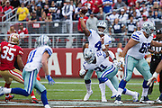 Dallas Cowboys quarterback Dak Prescott (4) throws to a receiver against the San Francisco 49ers at Levis Stadium in Santa Clara, Calif., on October 2, 2016. (Stan Olszewski/Special to S.F. Examiner)