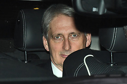 © Licensed to London News Pictures. 12/12/2018. London, UK. PHILIP HAMMOND is seen leaving the Houses of Parliament in Westminster as Prime Minister Theresa May faces a vote of no confidence from her own party. Photo credit: Ben Cawthra/LNP