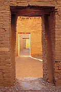 Interior doorways at Pueblo Bonito, Chaco Culture National Historic Park, New Mexico USA