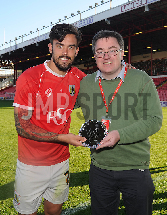 Man of the Match - Photo mandatory by-line: Dougie Allward/JMP - Mobile: 07966 386802 - 18/04/2015 - SPORT - Football - Bristol - Ashton Gate - Bristol City v Coventry City - Sky Bet League One