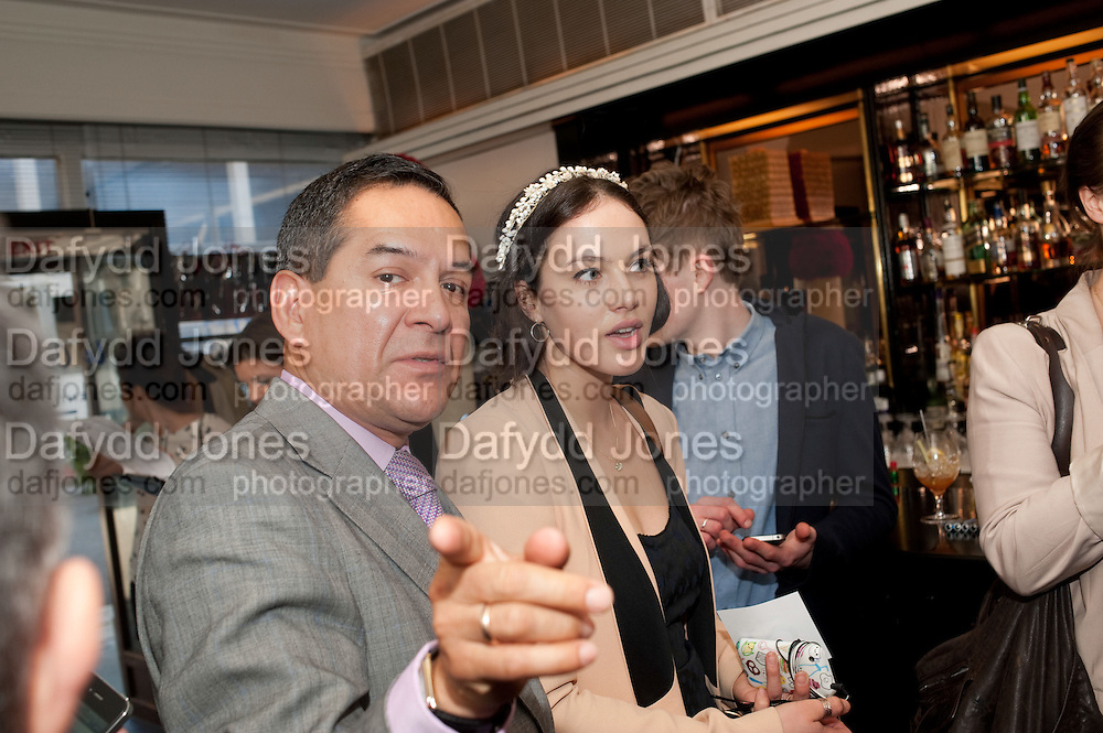 FRONT OF HOUSE 'FACE'AT LE CAPRICE; JESUS ADORNO; JESSICA BROWN-FINDLAY, The launch of the Belvedere Bloody Mary Brunch to London's Caprice. Le Caprice. Arlington st. London. 7 April 2011.  -DO NOT ARCHIVE-© Copyright Photograph by Dafydd Jones. 248 Clapham Rd. London SW9 0PZ. Tel 0207 820 0771. www.dafjones.com.