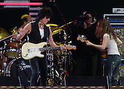 """Jeff Beck blew away the audience with his guitar genius during his set at the Crossroads Guitar Festival at Toyota Park in Bridgeview, Illlinois July 28, 2007...Eric Clapton's Crossroad Guitar Festival was as MC Bill Murray put it """"Something unbelievable you will never, ever forget for the rest of your life."""" ..We hope history repeats itself very soon."""