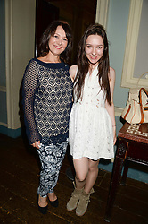 ARLENE PHILLIPS and her daughter ABI PHILLIPS at the 6th Dogs Trust Honours held at Home House, Portman Square, London on 23rd July 2013.