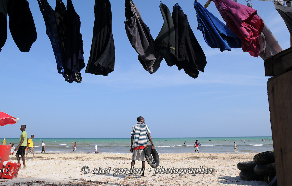 General view of daily life at Bamburi Beach in Mombasa, Kenya on Thursday, December 8, 2011.
