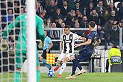 Juventus Forward Cristiano Ronaldo crosses ball past Manchester United Midfielder Nemanja Matic during the Champions League Group H match between Juventus FC and Manchester United at the Allianz Stadium, Turin, Italy on 7 November 2018.
