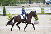 Leonie Nijskens - First Confetti<br /> Roelofsen Dressuur Competitie 2019<br /> © DigiShots