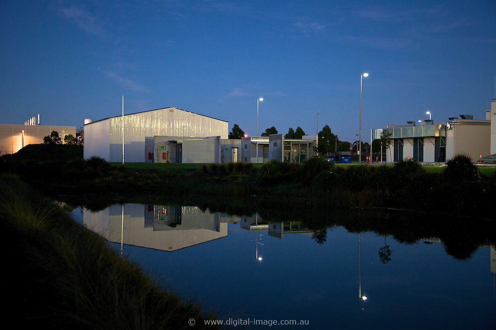 Exterior view of the Australian Synchrotron User Accomodation at dawn