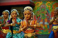 Inde, Etat du Kerala, Guruvayur, spectacle de danse au temple de Krishna // India, Kerala state, Guruvayur, danse show at Krishna temple