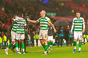 Celtic Captain Scott Brown Celebrates winning the Betfred Scottish League Cup during the Betfred Scottish League Cup Final match between Rangers and Celtic at Hampden Park, Glasgow, United Kingdom on 8 December 2019.