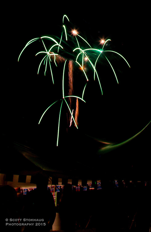 A shot of the fireworks I took at the Big Bend car show. All I see is beautiful palm trees.