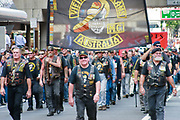 Vietnam veterans motorcycle club march during Brisbane ANZAC day 2005 parade <br />