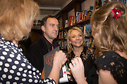 ANGUS DEAYTON; HELEN FIELDING , Allie Esiri's The Love Book launch party , Daunt Books <br /> 83 Marylebone High Street, London. 5 February 2014