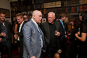 JOHN MALKOVICH; DAVID GILMOUR; MARK GETTY, Freud Museum dinner, Maresfield Gardens. 16 June 2011. <br /> <br />  , -DO NOT ARCHIVE-© Copyright Photograph by Dafydd Jones. 248 Clapham Rd. London SW9 0PZ. Tel 0207 820 0771. www.dafjones.com.