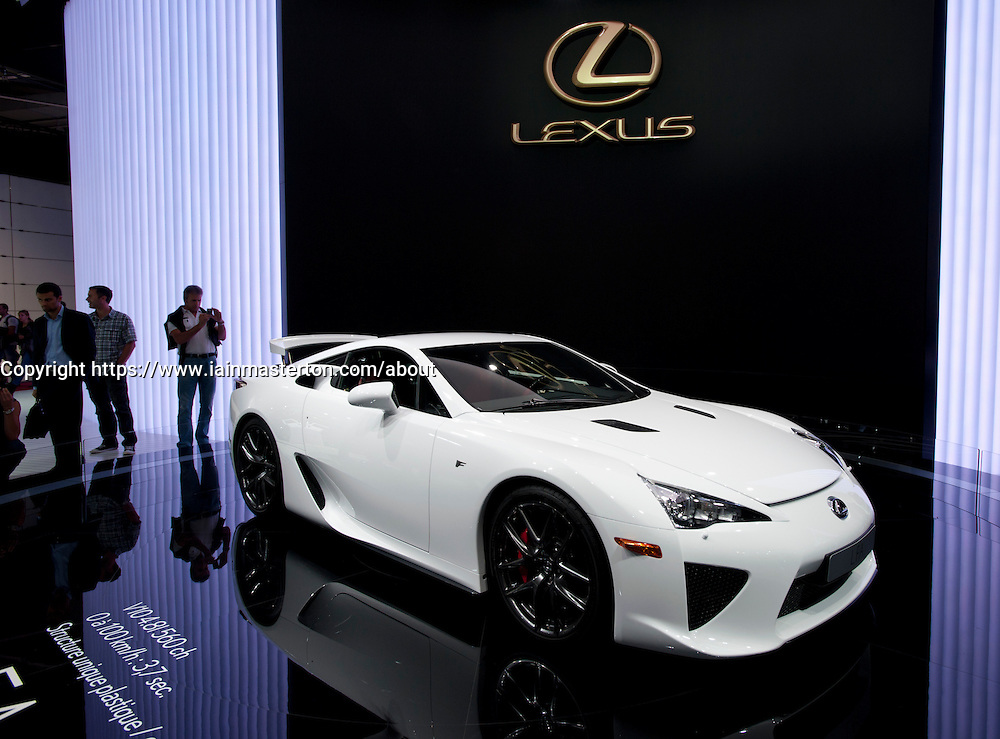 Lexus LFA sports car at Paris Motor Show 2010