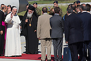 Pope arrive on Lesvos, 16.04.16