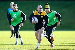 Dan Robson of Wasps during training ahead of the European Challenge Cup fixture against SU Agen - Mandatory by-line: Robbie Stephenson/JMP - 18/11/2019 - RUGBY - Broadstreet Rugby Football Club - Coventry , Warwickshire - Wasps Training Session