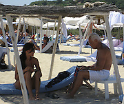 **EXCLUSIVE**.Giorgio Armani relaxing on the Beach in St. Stropez, France..Friday, July 20, 2007.Photo By Celebrityvibe.com.To license this image please call (212) 410 5354; or.Email: celebrityvibe@gmail.com ;