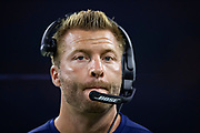 HOUSTON, TX - AUGUST 29:  Head Coach Sean McVay of the Los Angeles Rams on the sidelines during a game against the Houston Texans during week four of the preseason at NRG Stadium on August 29, 2019 in Houston, Texas. The Rams defeated the Texans 22-10.   (Photo by Wesley Hitt/Getty Images) *** Local Caption *** Sean McVay