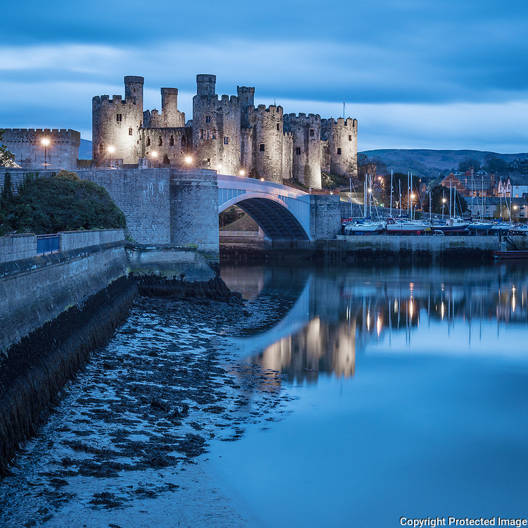 Conwy Castle at dusk I, Conwy.