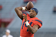 TUCSON, AZ - OCTOBER 28:  Quarterback Khalil Tate #14 of the Arizona Wildcats warms up for the game against the Washington State Cougars at Arizona Stadium on October 28, 2017 in Tucson, Arizona. The Arizona Wildcats won 58-37.  (Photo by Jennifer Stewart/Getty Images)