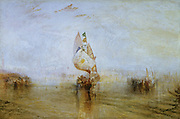 The 'Sun of Venice''Going to Sea' exhibited 1843: Joseph Mallord Willliam Turner (1775-1851) English artist. Oil on canvas.