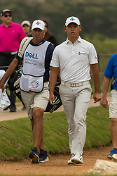 March 23, 2018 - Austin, TX, U.S. - AUSTIN, TX - MARCH 23:  Si Woo Kim walks to the seventh green during the WGC-Dell Technologies Match Play Tournament on March 22, 2018, at the Austin Country Club in Austin, TX.  (Photo by David Buono/Icon Sportswire) (Credit Image: © David Buono/Icon SMI via ZUMA Press)